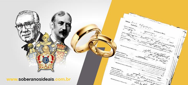 Licença de casamento de Frank e Nell Land