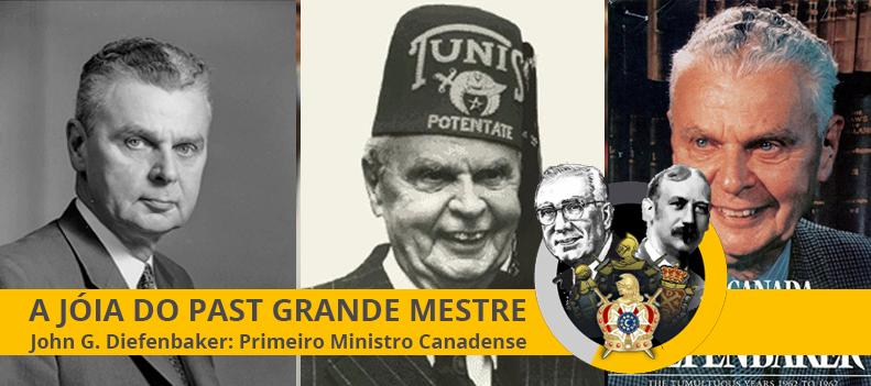 Apresentação da Jóia de Past Grande Mestre ao Primeiro Ministro Canadense