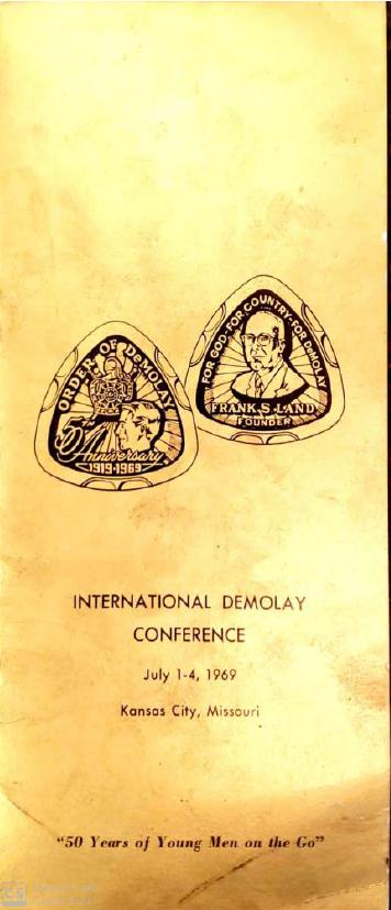 Panfleto aniversário de 50 anos da Ordem DeMolay